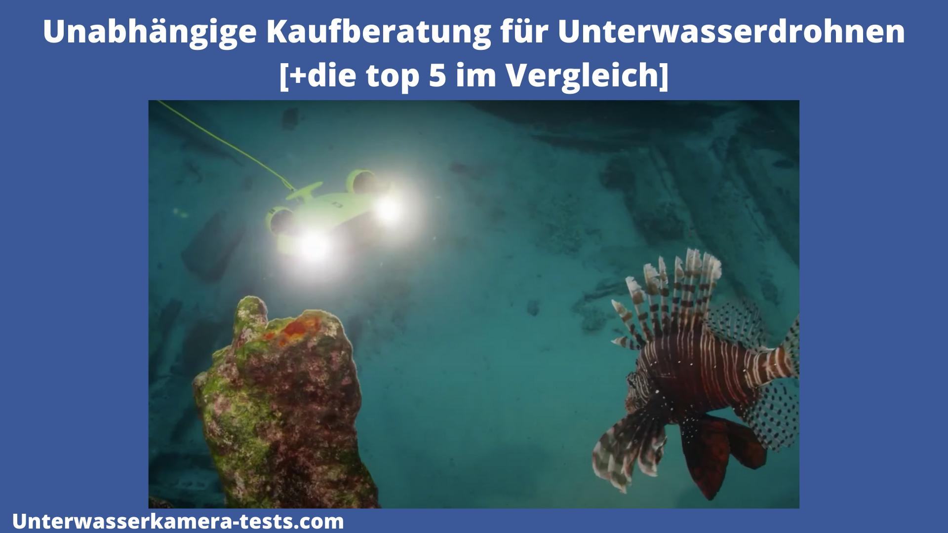 unterwasserdrohne test bild